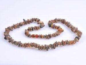 Унисекс гердан от необработен кехлибар
