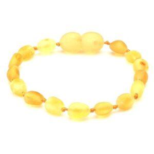 Бебешка/Детска гривна суров кехлибар лимон